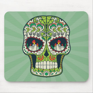 Candle Eyes Tattoo Mexican Sugar Skull Mouse Pad