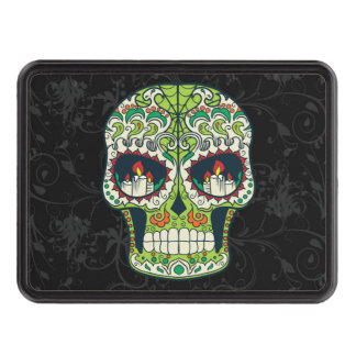 Candle Eyes Tattoo Mexican Sugar Skull Trailer Hitch Covers