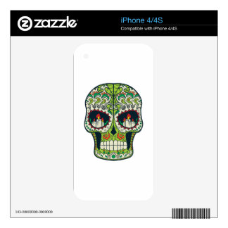 Candle Eyes Tattoo Mexican Sugar Skull Skin For The iPhone 4