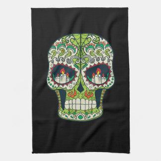 Candle Eyes Tattoo Mexican Sugar Skull Towel