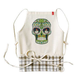 Candle Eyes Tattoo Mexican Sugar Skull Zazzle HEART Apron