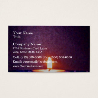 Candle flame business card