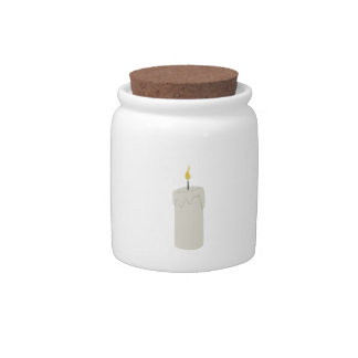 Candle Flame Candy Jar
