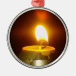 candle flame christmas ornament