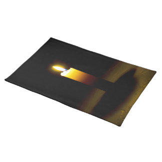 Candle, flame. cloth placemat