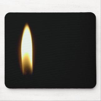 Candle Flame Funeral Death Sad Black Mousepad