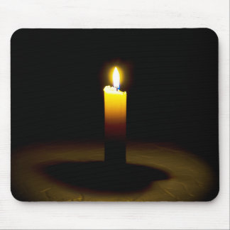 Candle, flame. mouse pad