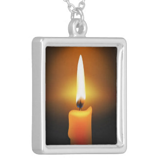 Candle Flame Necklace Necklace