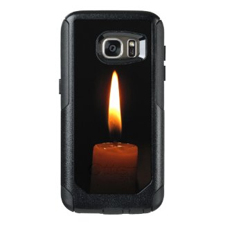 Candle Flame on Black OtterBox Galaxy S7 Case