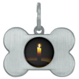 Candle, flame. pet ID tag