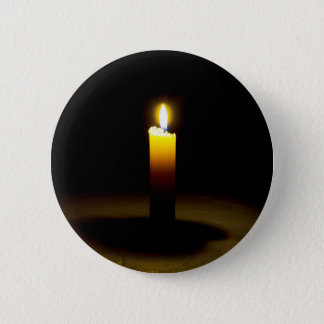 Candle, flame. pinback button