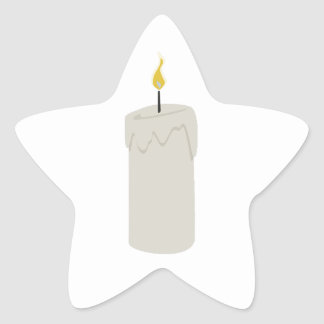Candle Flame Star Sticker