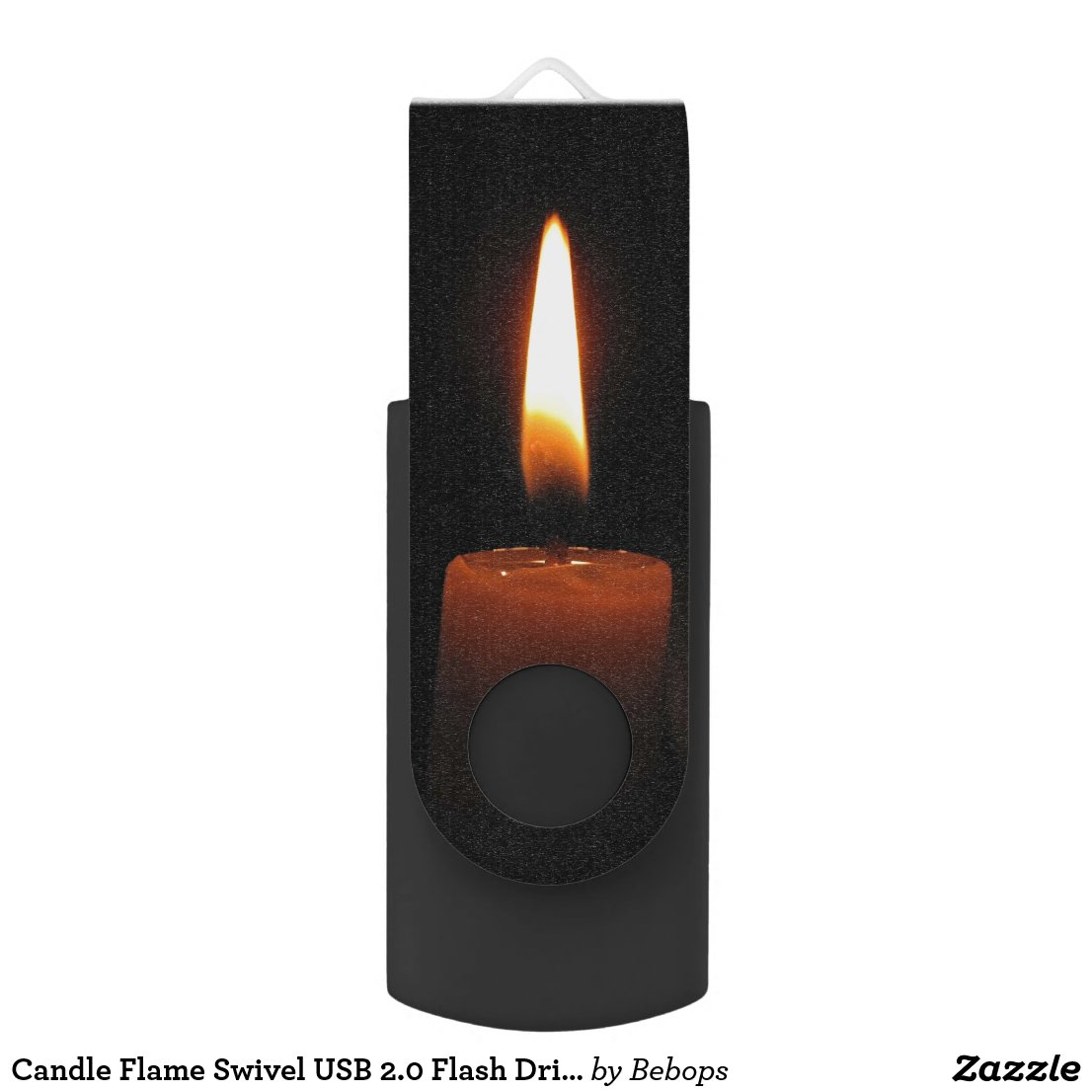 Candle Flame Swivel USB 2.0 Flash Drive