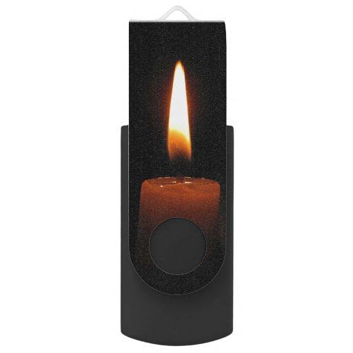 Candle Flame Swivel USB 2.0 Flash Drive