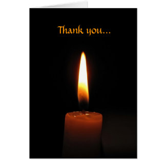 Candle Flame Thank You Card
