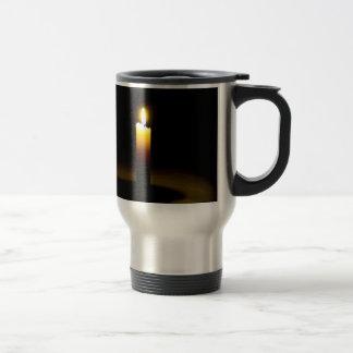 Candle, flame. travel mug