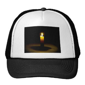 Candle, flame. trucker hat
