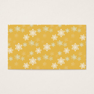 Candle Glow Yellow and White Snow Flurries Business Card