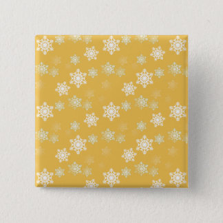Candle Glow Yellow and White Snow Flurries Button