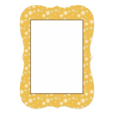 Disney Themed Candle Glow Yellow and White Snow Flurries Card