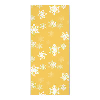Candle Glow Yellow and White Snow Flurries Card