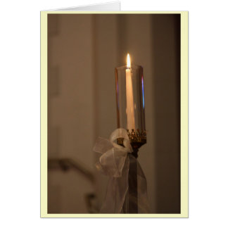 Candle Greeting Card (light border)