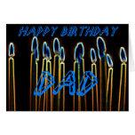 Candle Happy Birthday Dad Card