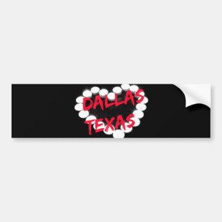 Candle Heart Design For Dallas, Texas Bumper Sticker