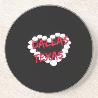 Candle Heart Design For Dallas, Texas Coaster