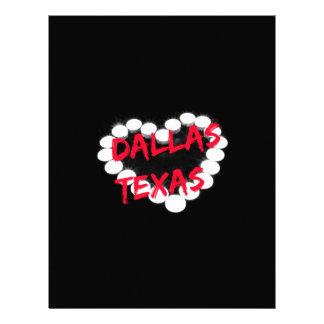 Candle Heart Design For Dallas, Texas Letterhead