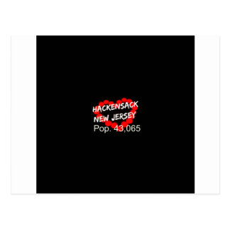 Candle Heart Design For Hackensack, New Jersey Postcard