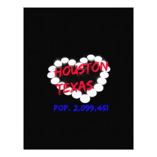 Candle Heart Design For Houston, Texas Letterhead