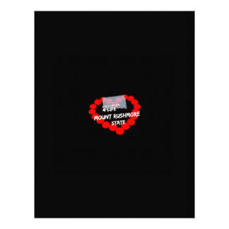 Candle Heart Design For South Dakota State Letterhead