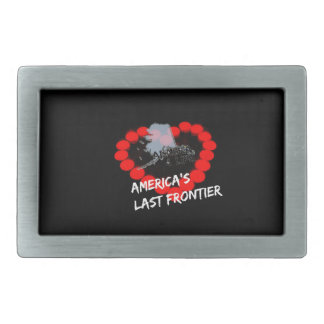Candle Heart Design For The State of Alaska Belt Buckle