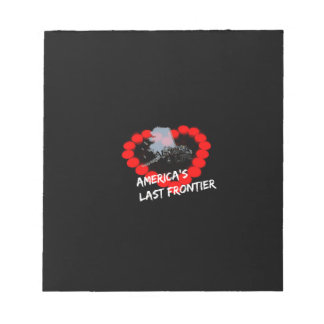 Candle Heart Design For The State of Alaska Notepad