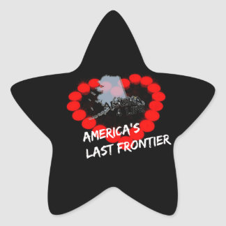 Candle Heart Design For The State of Alaska Star Sticker