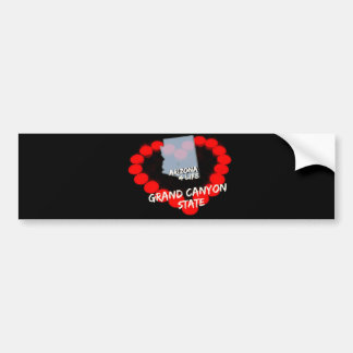Candle Heart Design For The State of Arizona Bumper Sticker