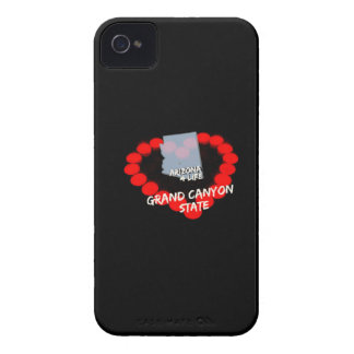 Candle Heart Design For The State of Arizona iPhone 4 Cover