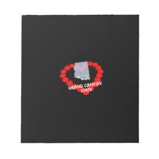 Candle Heart Design For The State of Arizona Notepad