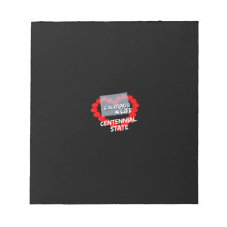 Candle Heart Design For The State of Colorado Notepad