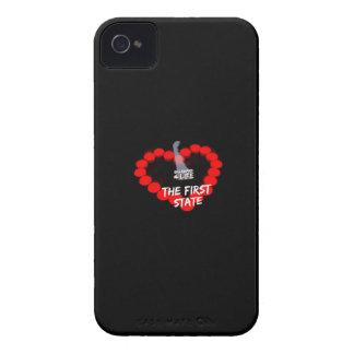 Candle Heart Design For The State of Delaware iPhone 4 Case