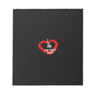 Candle Heart Design For The State of Delaware Notepad