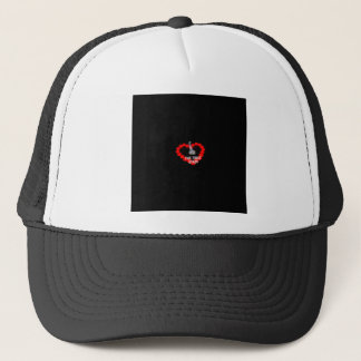 Candle Heart Design For The State of Delaware Trucker Hat