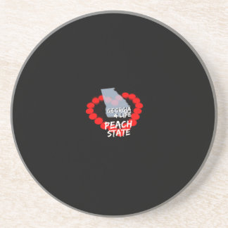 Candle Heart Design For The State of Georgia Sandstone Coaster