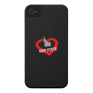 Candle Heart Design For The State of Idaho iPhone 4 Cover