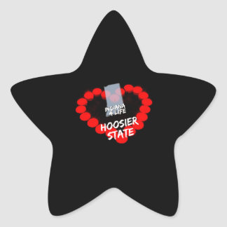 Candle Heart Design For The State of Indiana Star Sticker