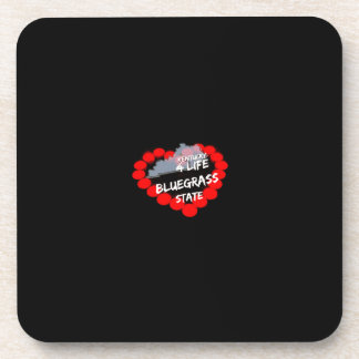 Candle Heart Design For The State of Kentucky Drink Coaster