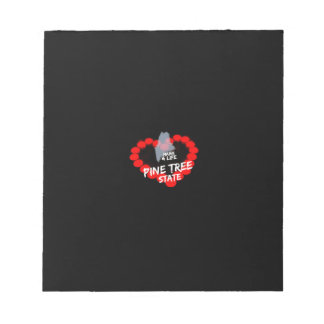 Candle Heart Design For The State of Maine Notepad