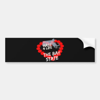 Candle Heart Design For The State of Massachusetts Bumper Sticker