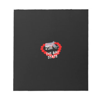 Candle Heart Design For The State of Massachusetts Notepad